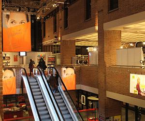 Aufgang zur Münchner Bücherschau im Gasteig