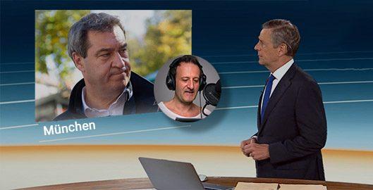 Markus Söder im Gespräch mit Claus Kleber im ZDF heute journal - Stimmenimitation zur Coronakrise